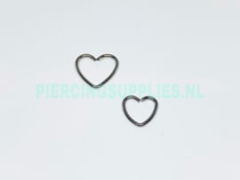 Heart Shaped Piercing chirurgisch staal