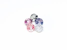 Ballen met glitters 1.6 x 5 mm 5 voor 80 cent