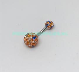 Multi Jeweled Navelpiercing