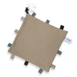 Labeldoekje speen Cream, 100% Katoen 25x25 cm