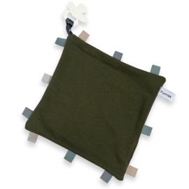 Labeldoekje speen Forest, 100% Katoen 25x25 cm