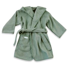 Badjas stone green (incl. Naam)