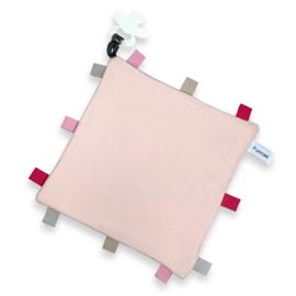 Labeldoekje speen Blush, 100% Katoen 25x25 cm