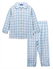 Pyjama vichy blauw
