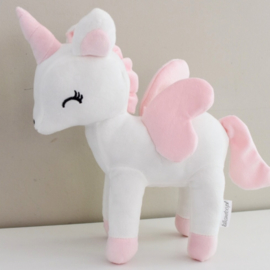 Unicorn wit/roze L