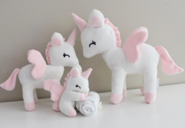Unicorn wit/roze M