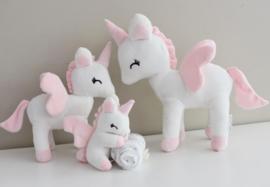 Unicorn wit/roze M