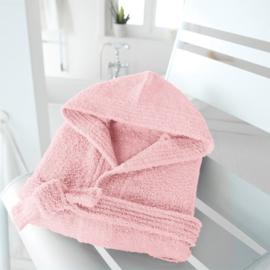 Badjas licht roze Maat 4-6 jaar