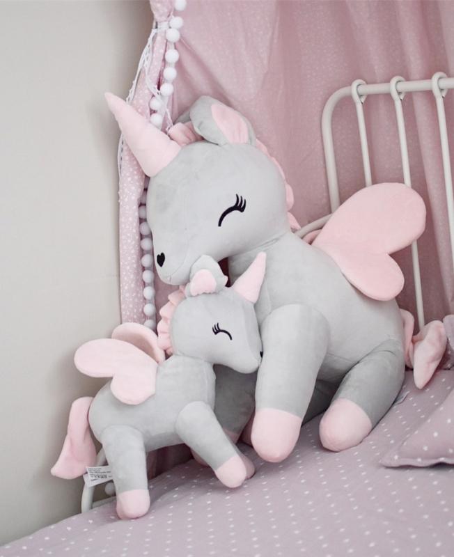 Unicorn grijs/roze  XL