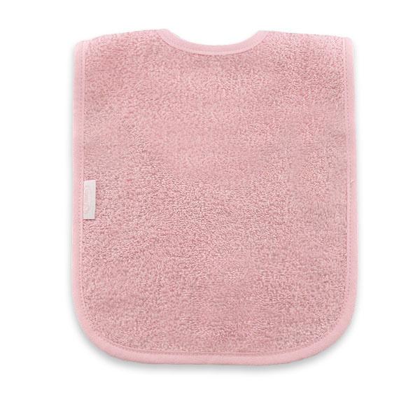 Slabbetje licht roze (incl. naam)