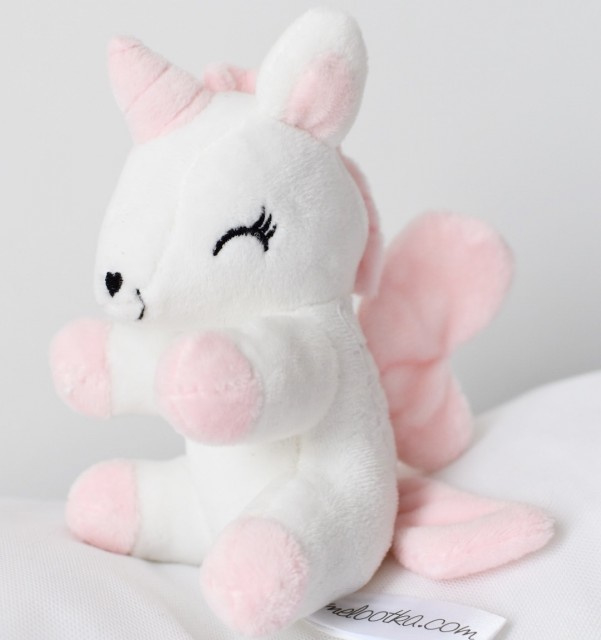 Baby unicorn Small Wit/Roze
