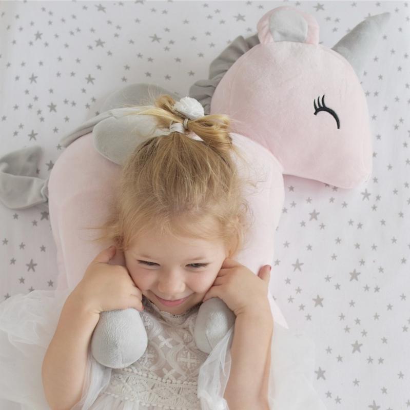 Unicorn roze/grijs XL