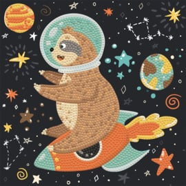 DIAMOND DOTZ SLOTH ROCKET - OP CANVAS