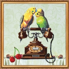 KRALEN BORDUURPAKKET LOVE BIRDS - ABRIS ART