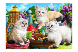 DIAMOND PAINTING TEA PARTY WD2502 70 x 48cm
