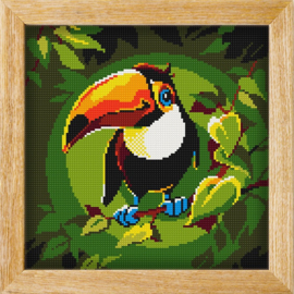 Diamond painting MANDALA FUNNY ANIMALS TOUCAN THOUGHTS
