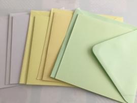 Assorti kaart met envelop pastel