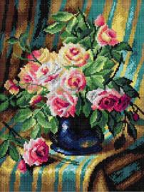 Voorbedrukt stramien After Frans Mortelmans - PINK ROSES - ORCHIDEA 30 x 40