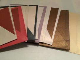 Metallic kaarten met envelop (10)