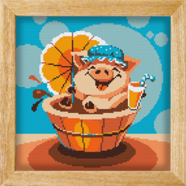 Diamond painting MANDALA FUNNY ANIMALS PARTY PIG