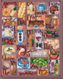 KRALEN BORDUURPAKKET GASTRONOMISCH ALFABET - ABRIS ART