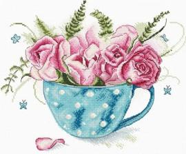 Borduurpakket LETI 916 Cup of Roses