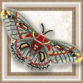 Kralen borduurpakket VLINDER - HYALOPHORA CECROPIYA - HOBBY ART