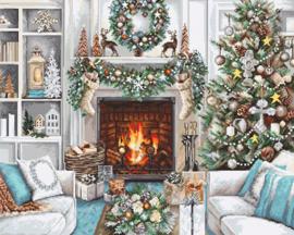 Borduurpakket Luca-S 2394 Christmas Interior