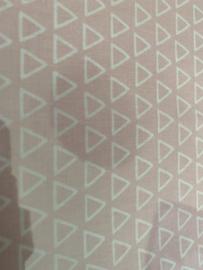 Rose met witte driehoek 50 x 55 cm 100% katoen