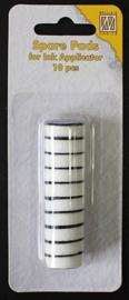 Nellies Choice 10 navulling foampads rond 2cm voor IAP004 SIAP004 diam. 2 cm