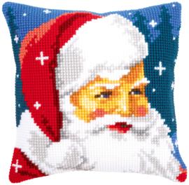 Kruissteek kussen Kind Santa 40 x 40 cm (voorbedrukt)