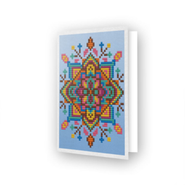 DIAMOND DOTZ GREETING CARD BLUE STAR - NEEDLEART WORLD