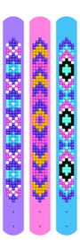 DIAMOND DOTZ DOTZIES 3 BRACELETS MULTI PACK - MAUVES - NEEDLEART WORLD