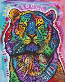 Borduurpakket LETI 8003 Curious Tiger
