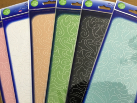 Velvet stickers ornament groen/blauw