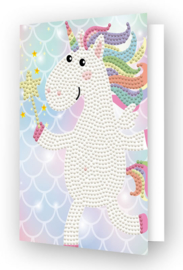DIAMOND DOTZ GREETING CARD UNICORN WISH - NEEDLEART WORLD