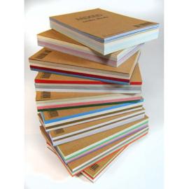 Kartonset A6 formaat assorti 4 kleuren (60 vel) ROOD