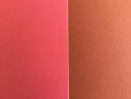 DUO Scrap karton 30 x 30 cm oudrose/bruin