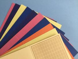 Gemengde kaartenset(dubbelzijdig gekleurd)