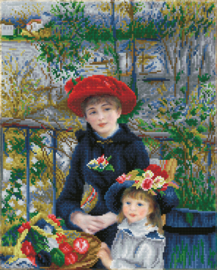 DIAMOND DOTZ TWO SISTERS ON THE TERRACE ((APRÈS RENOIR) - NEEDLEART WORLD