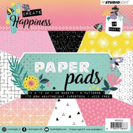 Paper pad 15 x 15 cm - CREATE HAPPINESS - 36 vel 170 grams - STUDIO LIGHT
