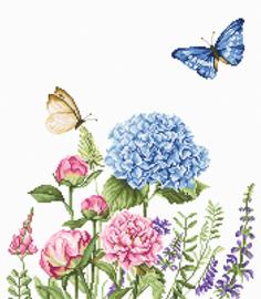 BORDUURPAKKET SUMMER FLOWERS AND BUTTERFLIES - LUCA-S