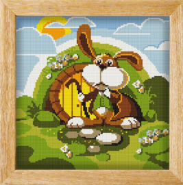 Diamond painting MANDALA FUNNY ANIMALS DOWN THE RABBIT HOLE