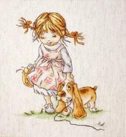 GIRL WITH DOG (aida)