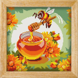 Diamond painting MANDALA FUNNY ANIMALS HONEY BUNNY..BEE