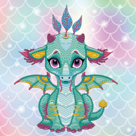 DIAMOND DOTZ ARIEL THE BABY DRAGON - OP CANVAS