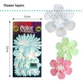Petaloo • Flower layers aquaduct Light blue - Papieren bloemblaadjes  (12 stuks)