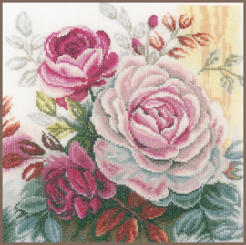 Home and Garden -  Roos (roze) (linnen)