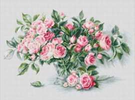 BOUQUET OF PINK ROSES (aida)