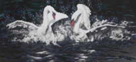 DIAMOND PAINTING WHITE SWANS - FREYJA CRYSTAL